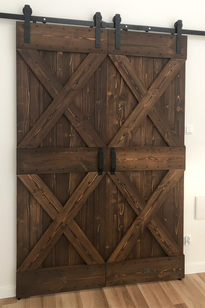 Doppelschiebetür Holz Rustikal DUET