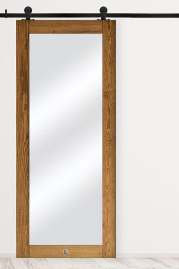 Holztür mit spiegel MIRRA