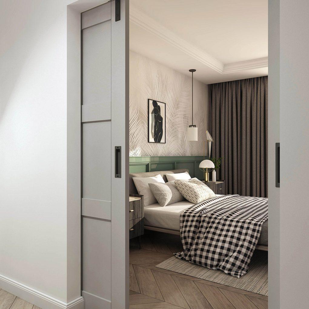 Schiebetür doppelt für klassische und moderne Räume