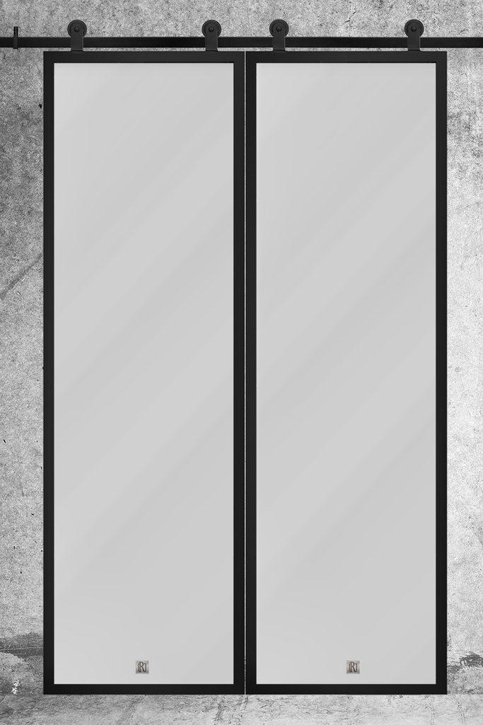 Doppel Glasschiebetür